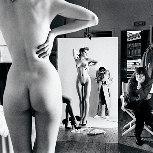 3_Helmut_Newton_Self-Portrait_with_wife_and_models_Paris_1981